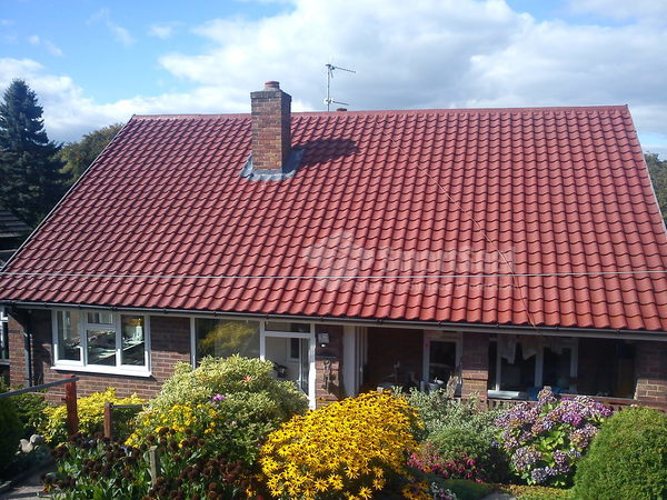 roof fully coated in rustic red