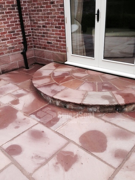 Indian stone after chemical treatment