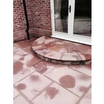 Patio Indian and lime stone cleaning